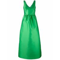 P.a.r.o.s.h. Vestido Longo Godê - Verde