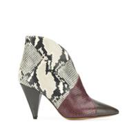 Isabel Marant Ankle Boot Bico Fino - Marrom