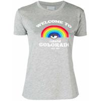 Chiara Ferragni Camiseta Com Estampa Rainbow - Cinza