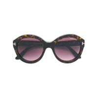 Tom Ford Eyewear Óculos De Sol 'kelly' - Marrom