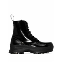 Stella Mccartney Ankle Boot Trace Com Cadarço - Preto