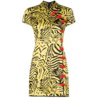 De La Vali Vestido Com Estampa De Zebra 'suki' - Amarelo