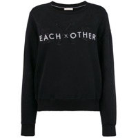 Each X Other Front Logo Loose Sweatshirt - Preto