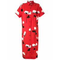 Osklen Vestido Chemise Rose Glitch - Vermelho