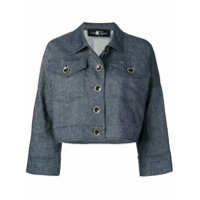 Luisa Cerano Cropped Button Jacket - Azul