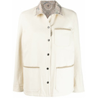 Etro Contrast-Collar Jacket - Neutro
