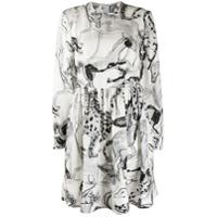 Stella Mccartney Vestido Com Estampa Abstrata De Seda - Branco