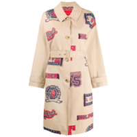 Hilfiger Collection Trench Coat Com Estampa - Neutro
