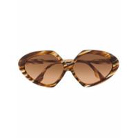 Victoria Beckham Eyewear Óculos De Sol Angular - Marrom
