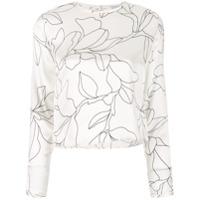 Equipment Blusa Floral - Branco