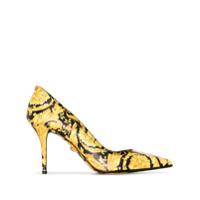 Versace Sapato Com Estampa Barroca - Preto
