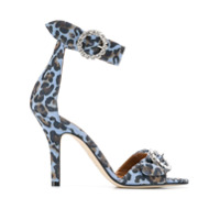 Paris Texas Sandália Animal Print - Azul
