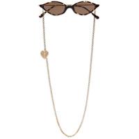 Alessandra Rich Óculos De Sol Ar3 Tartaruga - Marrom
