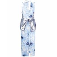 Jacquemus Vestido Com Estampa Floral E Aplicação De Paetês - Azul