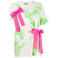 Gina Bow-Detail Printed T-Shirt - Verde