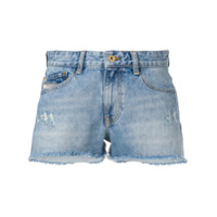 Diesel Short Jeans Desgastado - Azul