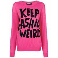 Jeremy Scott Suéter 'keep Fashion Weird' - Rosa