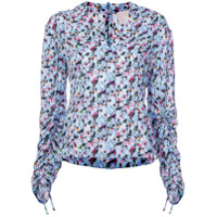 Jason Wu Collection Blusa De Seda Floral - Azul