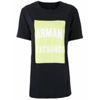 Armani Exchange T-Shirt Com Logo - Preto