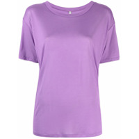 Baserange Camiseta Mangas Curtas De Bambu - Roxo