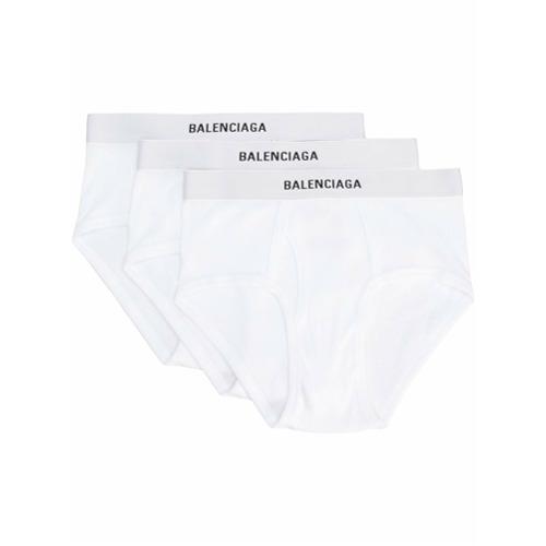 Imagem de Balenciaga Cueca com logo - Branco