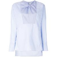 Carven Camisa Listrada Mangas Longas - Azul