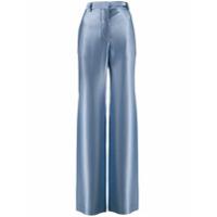 Giorgio Armani Calça Pantalona De Seda - Azul