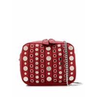 La Carrie Studded Shoulder Bag - Vermelho