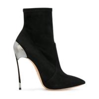 Casadei Ankle Boot De Couro 'techno Blade' - Preto