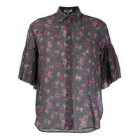 Kenzo Camisa Translúcida Passion Flower - Verde