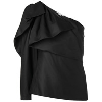 Stella Mccartney Blusa Assimétrica Com Sosbreposição - Preto