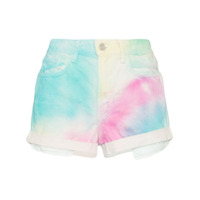 Jordache Short Jeans Cintura Alta Tie Dye - Multicoloured