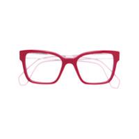 Miu Miu Eyewear Armação De Óculos Quadrada - Vermelho