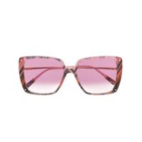 Missoni Eyewear Óculos De Sol Oversized Com Estampa Abstrata - Rosa