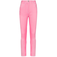 Balmain Calça Jeans Skinny Cintura Alta - Rosa