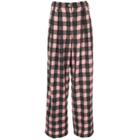 Dawei Calça Pantalona Xadrez - Rosa