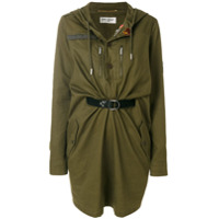 Saint Laurent Vestido Com Capuz - Green