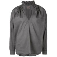 A Shirt Thing Camisa Com Fenda Na Gola - Cinza