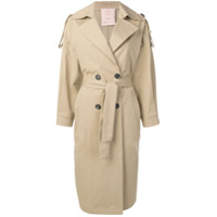 Tela Oversized Trench Coat - Neutro
