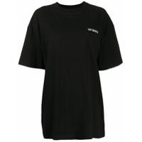Han Kjøbenhavn Camiseta com detalhe de logo - Preto