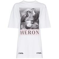 Heron Preston Camiseta Com Estampa - Branco