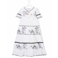 Patrizia Pepe Junior Vestido Color Bloc - Branco