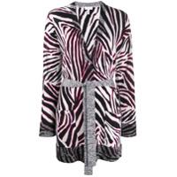 Escada Sport Zebra Print Belted Cardigan - Branco