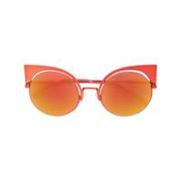 Fendi Eyewear Óculos De Sol 'eyeshine' - Amarelo