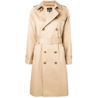 A.p.c. Trench Coat Com Cinto - Neutro