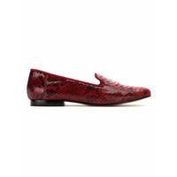 Blue Bird Shoes Loafer 'exótico' De Couro Python - Vermelho