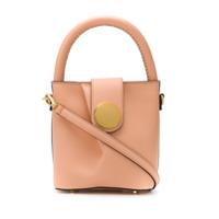 Elleme Mini Leather Bucket Bag - Laranja