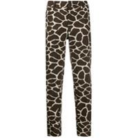Pt01 Giraffe Cropped Trousers - Marrom
