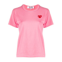 Comme Des Garçons Play Camiseta Decote Careca Com Estampa De Coração - Rosa