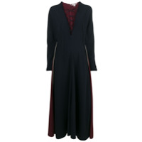 Stella Mccartney Vestido Longo Com Amarração No Decote - Azul
